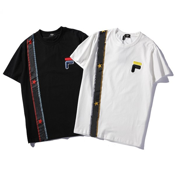 2019 New Men Women Tops T-Shirt Cool Summer Stripe Printed Short Sleeve Polo shirts Active Sport Wear Casual Tees