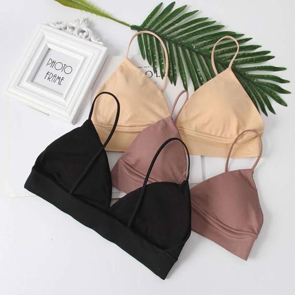 Cmenin Colors Women Tube Tops Lingerie Strapless Camisole Backless Bra Bandeau Slim Sexy Solid Tanks Underwear Lady Wrap B0047 C190416