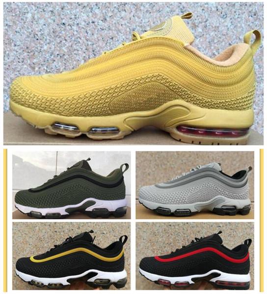 venta al por mayor material seleccionado super calidad 2018 Newest 97 Plus Tn Men Running Shoes Mens Zapatillas Tn Designers Shoes  Fashion Man Outdoor Walking Designers Sneakers Airs Pink Running Shoes ...