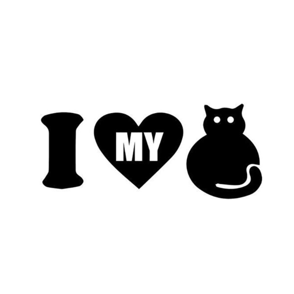 I Love My Cat Home Decor Car Truck Window Decal Sticker Cute And Interesting Fashion Sticker Decals