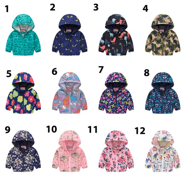 top popular 40 color New Brand Kids Clothes Boys Girls Jackets Children Hooded Windbreaker Infant Waterproof Hoodies Toddler Baby Coat For Kids 2-7T D 2019