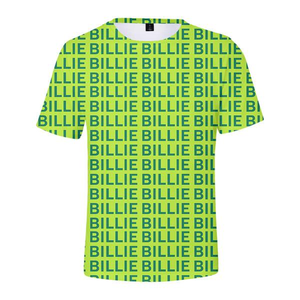 Billie Eilish T gömlek erkekler ve kadınlar hiphop streetwear mektubu beyaz ve siyah kardeş büyük 4xl