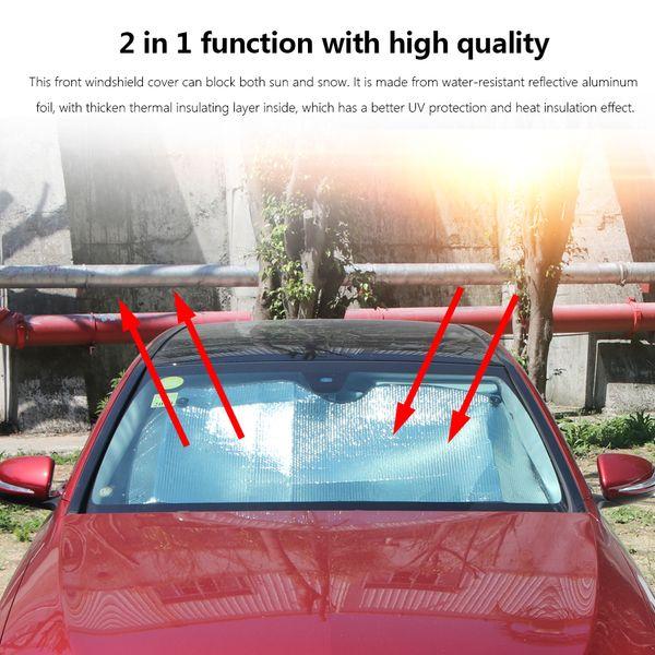 Janela do carro Pára-brisas Neve Capa Sun Universal folha de alumínio Sun Visor Tampa UV Protect