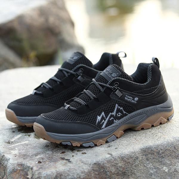 Новые 2019 Повседневная обувь мужчины большой размер сетки дышащий открытый обувь путешествия туризм нескользящие кроссовки дропшиппинг chaussure homme