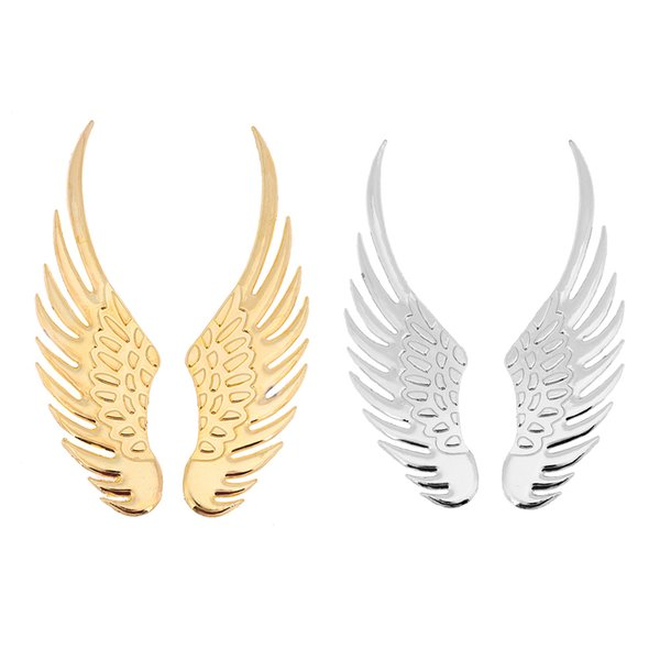 xterior Accessories Stickers 1 Pair Universal 3D Effect Metal Car Stickers Big Eagle Angel Wings Sticker Motorcycle Car Styling Body Dec...