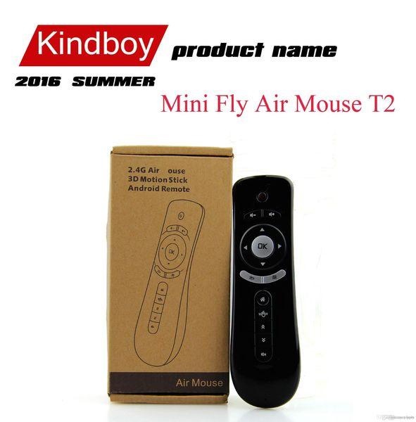 11 Mini Fly Air Fare T2 Klavye Mouse Android Kablosuz Uzaktan Kumanda 3D Sense Hareket Çubuk İçin TV Box DHL