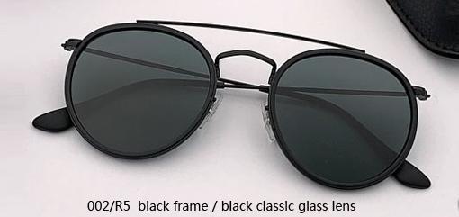 002/R5 black - black glass lens