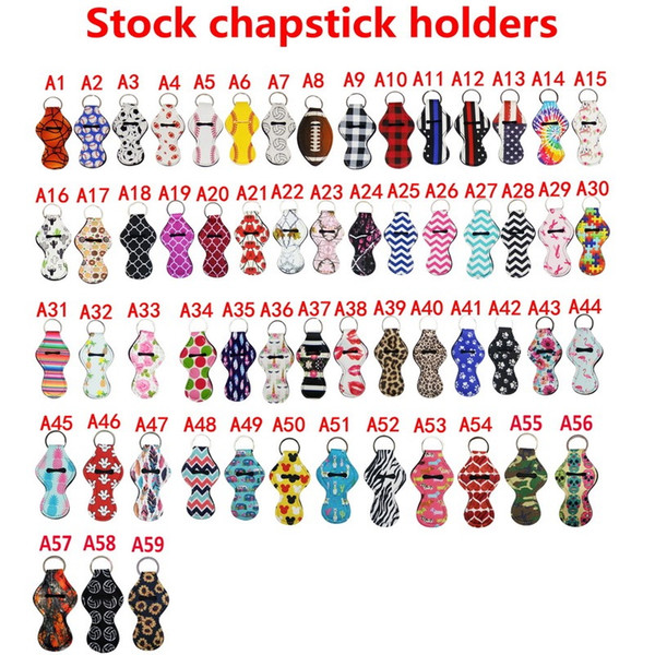 59 Stil Neopren Chapstick Tutucu Anahtarlık Kız Satış Hediye Şekeri Sevgililer Hediye Için Lstick03 Ruj Ruj Anahtarlık