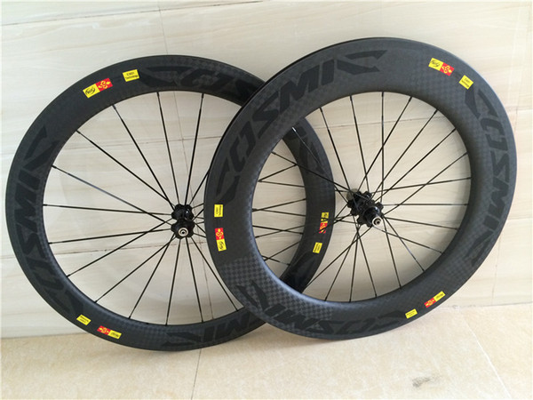 12k weave matt bicycle carbon wheels front 60mm rear 88mm bicycle carbon wheels clincher 700C with Novatec hubs or powerway hubs wheelset