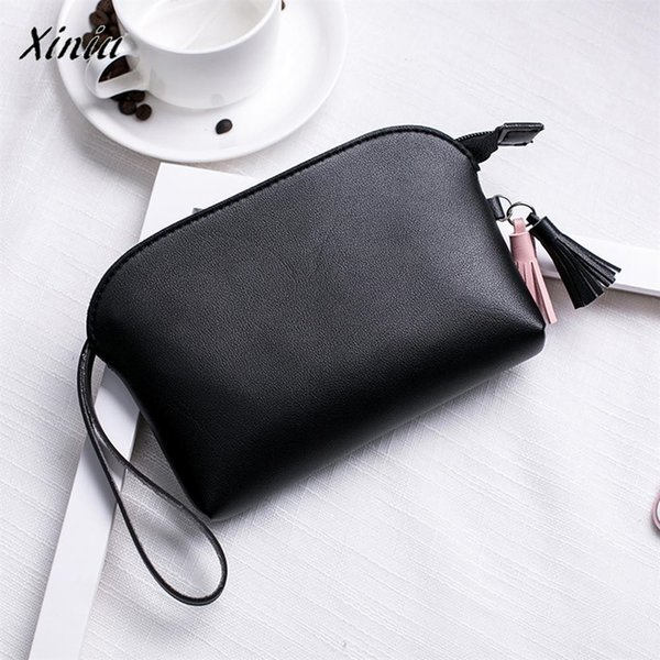 Xiniu Quality Fashion Women's Purse Cute Mini Money Bag Ladies Leather Tassels Lichee Pattern Shell Type Handbag Coin Phone Bag #111701