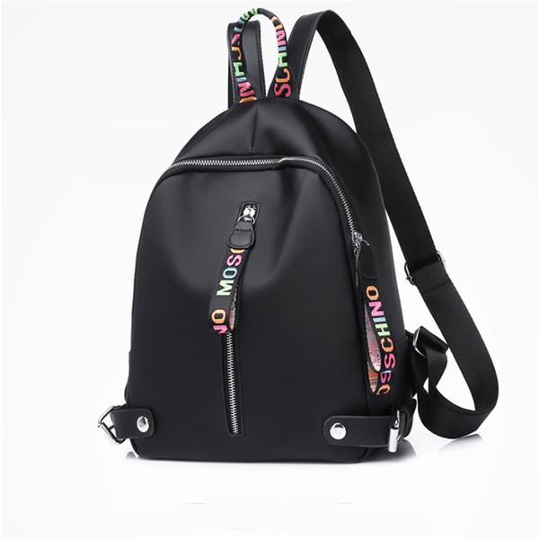 Tasarımcı sırt çantası Kadın Kızlar Için Büyük kapasiteli Naylon sırt çantaları Siyah Beyaz Pembe ile 3 renkler yüksek kalite Geri paketi Bırak Nakliye
