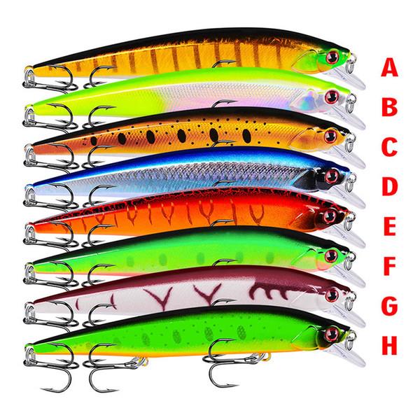 Pesca Wobbler Señuelo de la pesca real Bronceado Pintado Swimbait Crankbait Cebo duro 14cm / 18.5g Señuelos artificiales Tilapia Tackle de pescado 8 colores