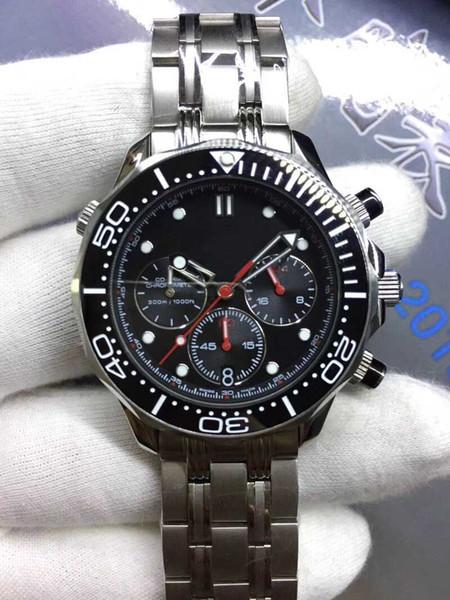 Nuevo y lujoso reloj de pulsera de acero inoxidable para hombres de gama alta, de moda, omga, reloj de movimiento mecánico para hombres transpirable informal.