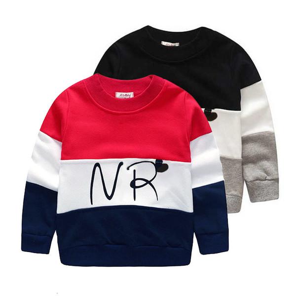 2017 дизайнер мальчиков фуфайка хлопок футболки для мальчиков мультфильма Outwear 2-7years детской одежды весны осенью мальчиков Tops тройники одежды T191013