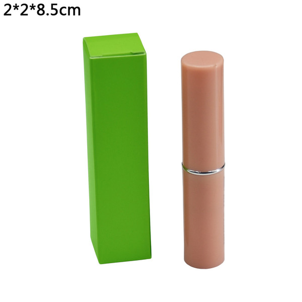 2*2*8.5cm Green Kraft Paper Package Box Wedding Favor DIY Lipstick Package Cradboard Boxes Small Gift Packing Box Paperboard Boxes 50pcs/lot