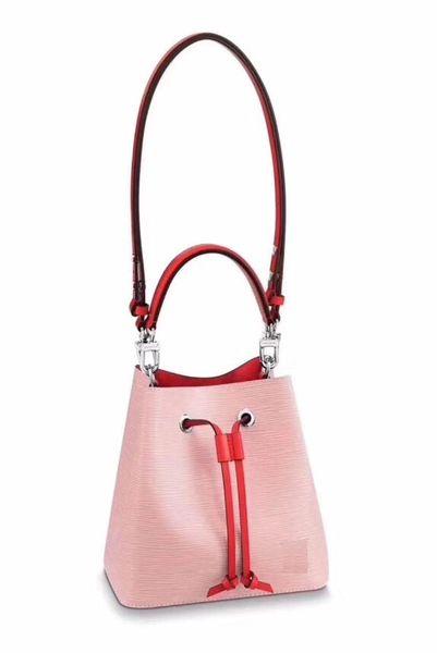 Mujeres famosas marcas de diseño bolsos de moda bolso bandolera nos TWIST NEONOE bolsas de hombro Noé bolso de cubo de cuero barato cordón Hobo