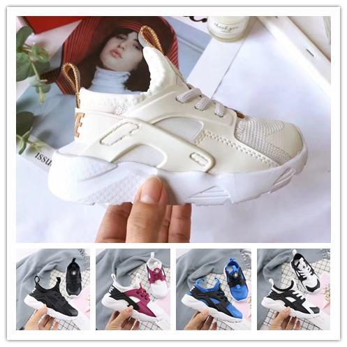 Nike air huarache Erkekler Için 2018 Hava Huarache Ultra Koşu Ayakkabıları Kadın Büyük çocuklar Siyah Beyaz Hava Huaraches Huraches Spor Sneakers e ...