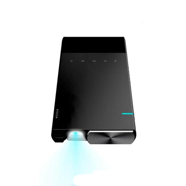 Projetor portátil Ultra Projetor 1080p Suportado HD DLP LED Projetor Pico Recarregável com HDMI, USB, TF, e Suporte Micro SD