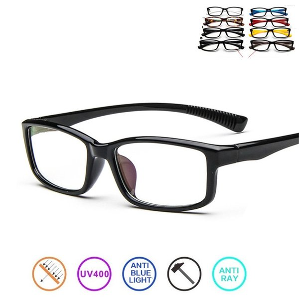 Cubojue Blue Light Glasses Men Women Ultra-light Computer Eyeglasses Frame with Transparent Lens Blocking Reflective UV400