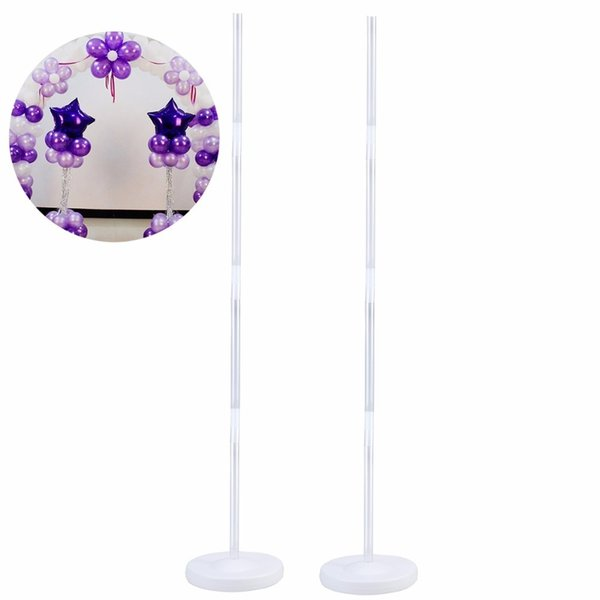 Bestoyard 2 Pcs Balloon Column Kits Arch Stand With Frame Base And Pole For Wedding Birthday Party Decoration Supplier Q190524