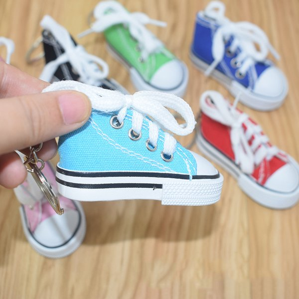 12 colori 3D Novità tela portachiavi sneaker novità scarpe di tela portachiavi scarpe portachiavi titolare borsa ciondoli favori