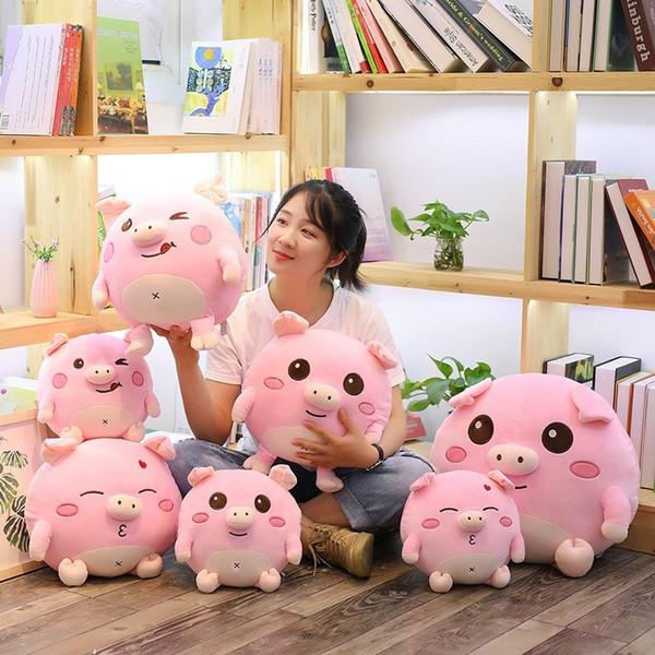 Sevimli domuz peluş oyuncak yumuşak domuz bebek çocuk yastık çocuk doğum günü hediyesi kız arkadaşı sevgililer Günü hediyesi