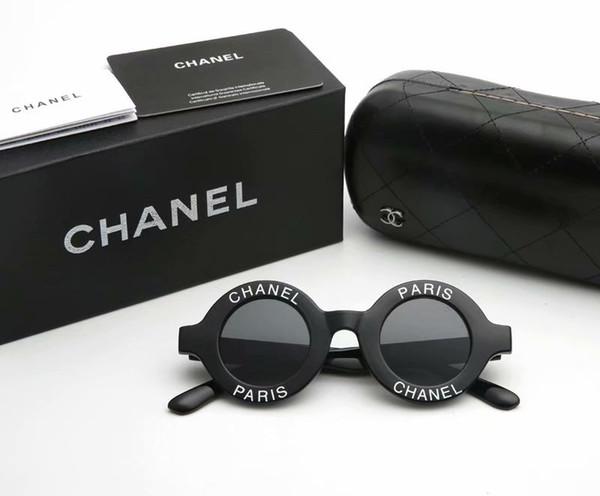2019 brandneue Sonnenbrille Design Runde Vintage Full-Frame-Frauen Brille Sommer Auge Anti-UV-Objektiv Sonnenbrille exquisite Geschenkbox
