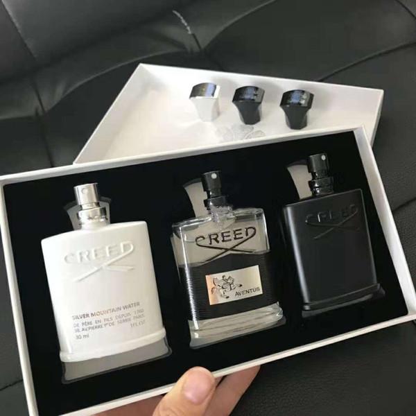 New creed men fragrance et 30ml 3pc portable fragrance kit long la ting gentleman perfume et amazing mell hipping