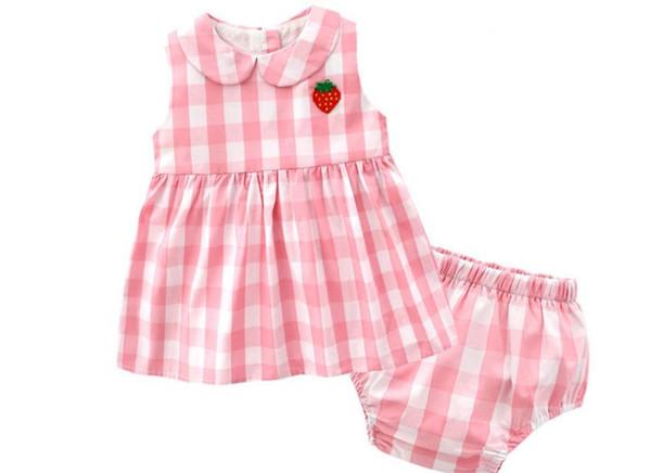 begrenzter Verkauf verrückter Preis modernes Design Großhandel 19 Jährige Kinderkleidung Sommer Neues Mädchen Baby 1 3 Jahre  Alt Rosa Gesticktes Erdbeerkleid Ärmellose Prinzessin Rock Von Xnl123,  $11.26 ...