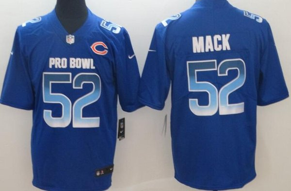 check out 9d4d2 b5088 Chicago Bears Men Jerseys #52 Khalil Mack 2019 Pro Bowl Limited Women Youth  Jersey Men Formal Trousers Men In Formal From Top_jersey_outlet_06, ...