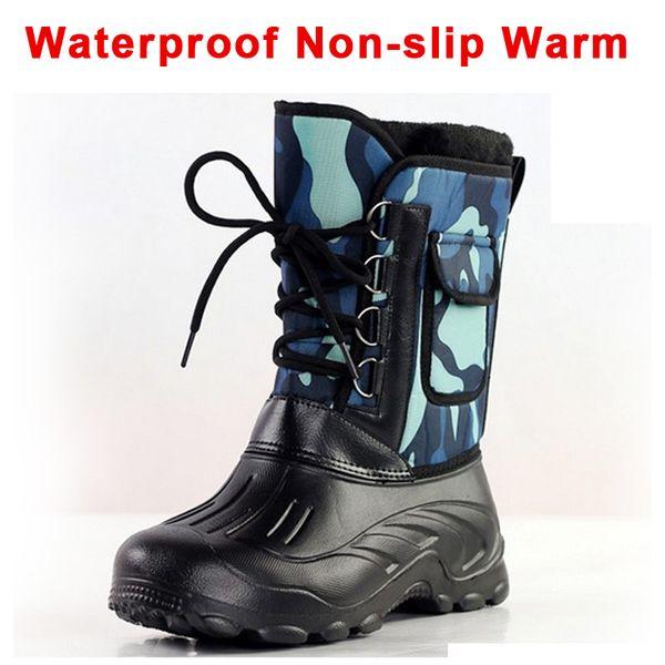 2019 man snow boots eva camouflage mid-calf winter warm men's outdoor waterproof snow boots fishing shoes ski aehq0339 thumbnail