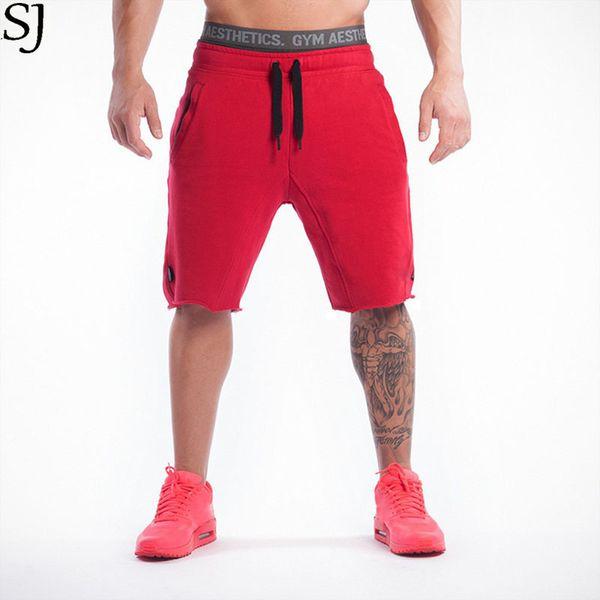2017 marke Hohe Qualität Baumwolle Männer Shorts Bodybuilding Fitness Kurze Masculino Workout Jogger Shorts Golds J190505