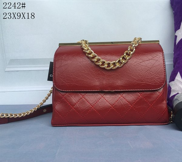 Factory Wholesale 2017 new handbag cross pattern synthetic leather shell chain bag Shoulder Messenger Bag Fashionis 2242