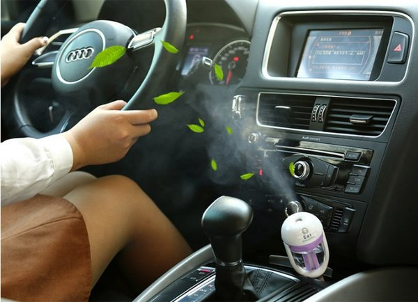 Good Quality Diffuser Car Humidifier Jasmine essential oil Portable Car Air Mini Humidifier cool mist Purifier in car 12V 1.5W 4 Colors 50ml