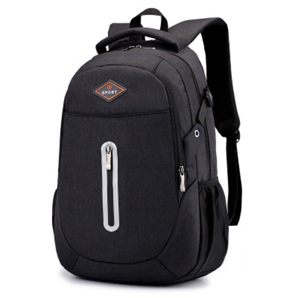 Men's and women's outdoor backpack travel waterproof backpack 15.6-inch laptop backpack suitable for school / work / sports / camping.black