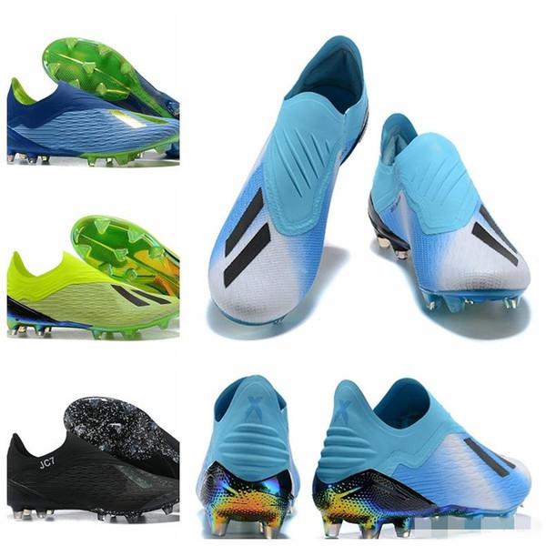 2018 Copa del mundo para hombre ACE X 18+ Speedmesh FG Botines de fútbol Zapatos de fútbol Purechaos Botas de fútbol Tobillo bajo X ACE Tango 18 PureControl