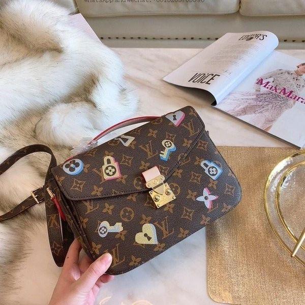 1q 2019 New European And American Fashion Female Bag Shoulder Inclined Joker Lady brown Handbag