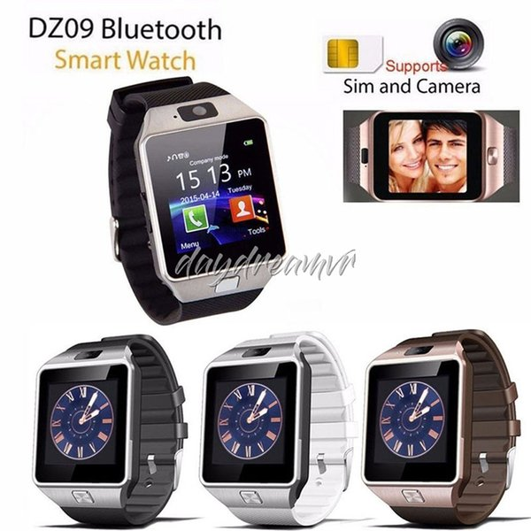 Cheapest DZ09 Bluetooth Smart watch for iPhone XS MAX Samsung S10 HUAWEI Android Phone Smartphones VS U8 GV18 retail box free shipping