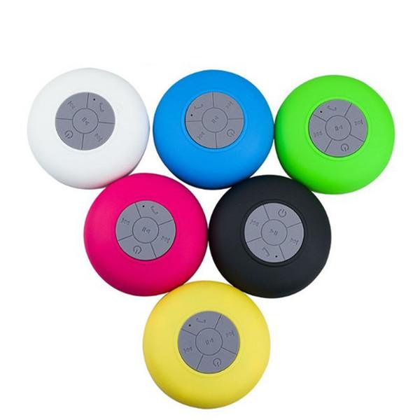 Bluetooth Haut-Parleur Étanche Sans Fil Douche Mains Libres Micro Aspiration Chuck Haut-Parleur De Voiture Haut-parleur Portable mini MP3 Super Bass Call Receive