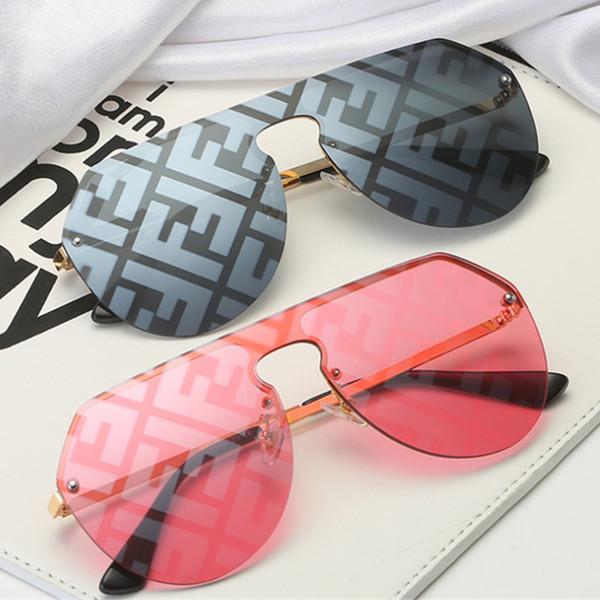FF Carta Marca Mulheres Designer Sunglasses Summer Fashion afasta Homens Sun Glasses grande frame Sunglasses Sea Beach Sand-prova Sunglass C91704