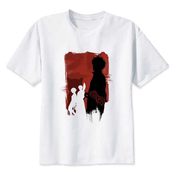 Gintama Anime The Samurai Group T-Shirt Herren Print T-Shirts Mode Print T-Shirts Kurzarm O Neck Tees MRR194