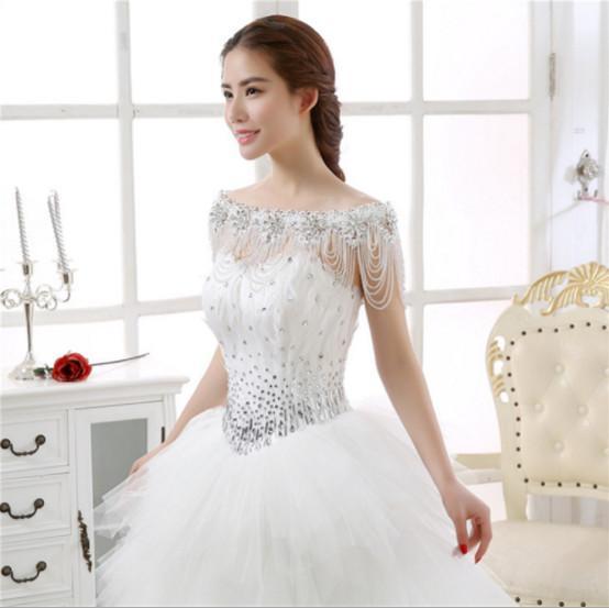 2020 лето Bridal плеча цепи плеча каблука макияж Свадебное платье аксессуары невесты шаль Кристалл невесты венчания ювелирные изделия