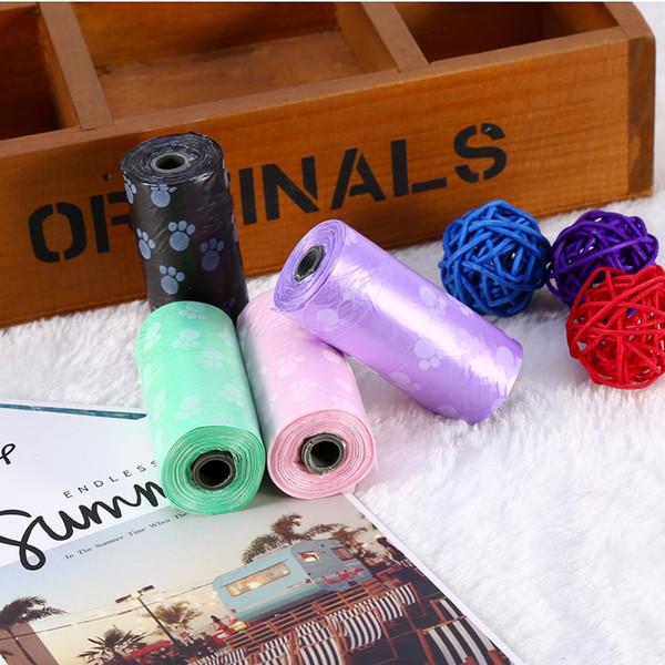 best selling 200 Rolls 7500 Pcs Degradable Pet Dog Waste Poop Bag With Printing Doggy Bag Pet Waste Clean Poop Bags 4 colors