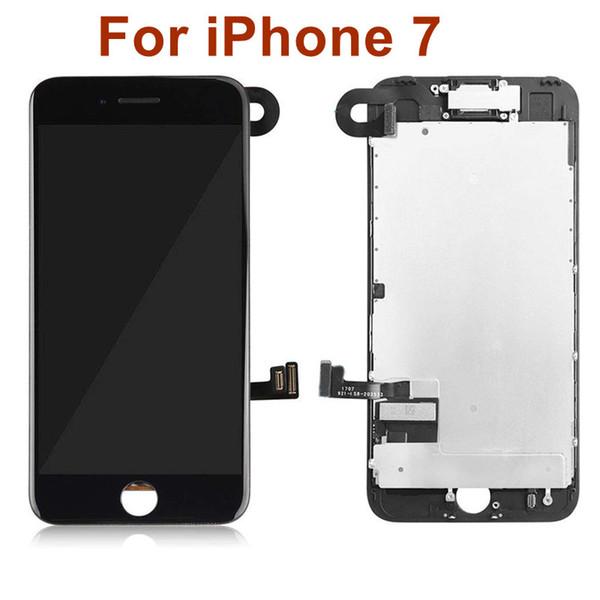 Grade A +++ lcd Für iphone 7 4.7inch lcd-Anzeigen-Noten-Digitalisierer-Versammlungs-Ersatzteile mit freiem DHL, der Schwarzweiss versendet