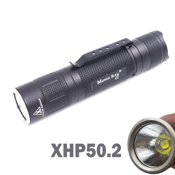 Manta Ray S21 Portable XHP50.2 18w Powerful LED Flashlight Step-less Dimming Lantern Torch (3.7V 21700)