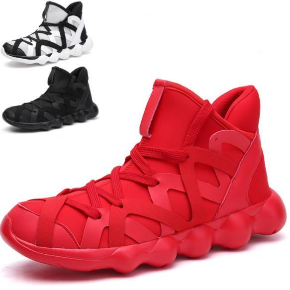 Men's Shoes Web Celebrity The Same Type of Small Red Egg White Shoes Men's High-top Shoes Large Size