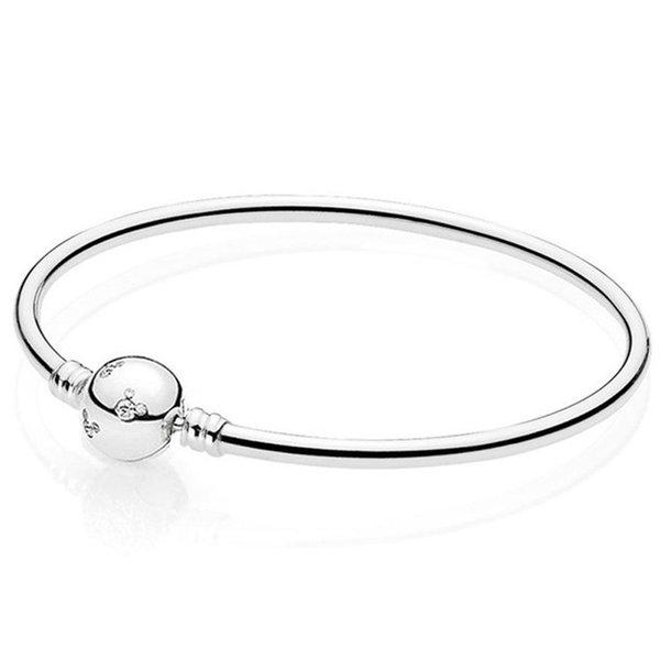 Autentica S925 argento Sterling Bracciale donne del braccialetto signora adatta Bead Charm ciondola Chiusura CZ libera