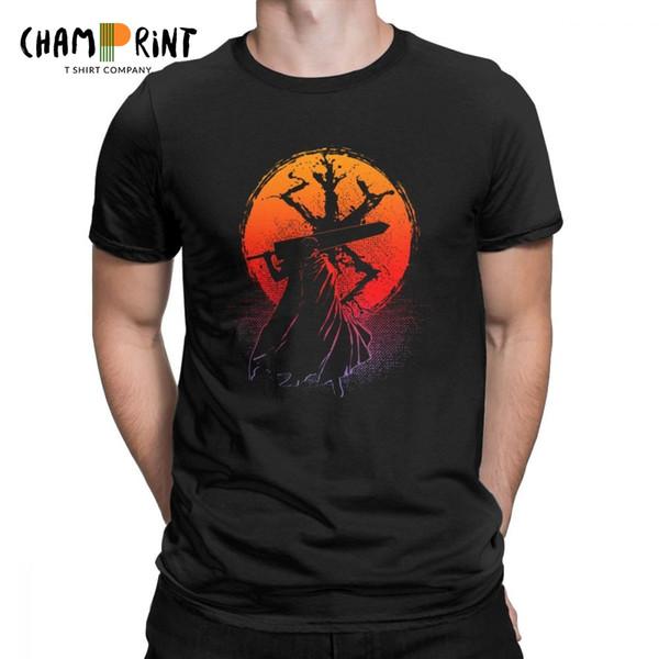 Berserk Guts Sunset Camiseta para hombre Camiseta de manga corta Camiseta de algodón Alta calidad O-cuello Tops Ropa de regalo de cumpleaños Tallas grandes
