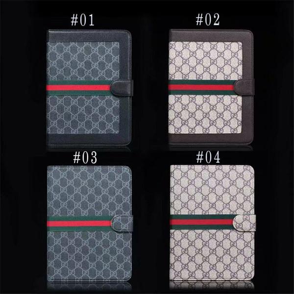 Mehrfarbige Ledertasche mit Ständerhalterung Flip Cover Eingebaute Kartenschnalle Universelle Ledertasche für Tablet PC MID