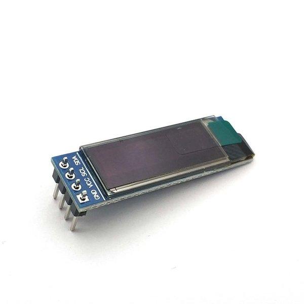 Accesorios de piezas de repuesto baratos 0.91 pulgadas 128x32 IIC I2C Blanco / azul OLED LCD Pantalla LCD DIY Módulo SSD1306 CONDUCTOR IC DC